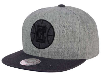 Los Angeles Clippers Mitchell & Ness NBA Double Heather Snapback Cap