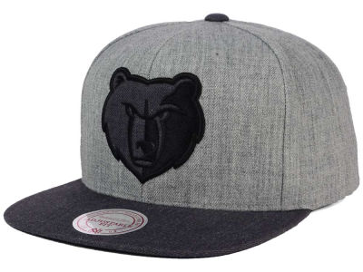 Memphis Grizzlies Mitchell and Ness NBA Double Heather Snapback Cap