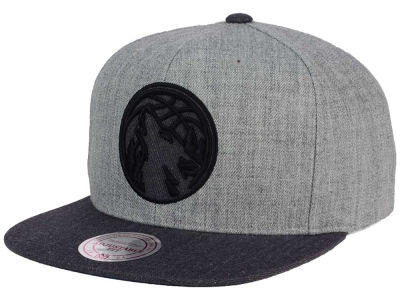 Minnesota Timberwolves Mitchell and Ness NBA Double Heather Snapback Cap