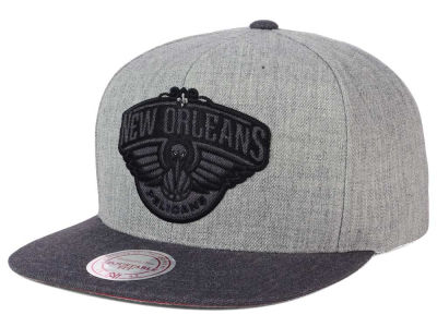 New Orleans Pelicans Mitchell and Ness NBA Double Heather Snapback Cap