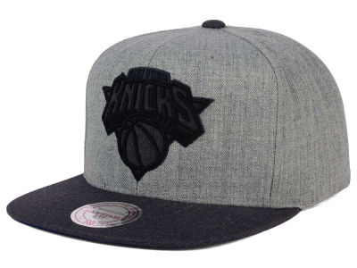 New York Knicks Mitchell and Ness NBA Double Heather Snapback Cap
