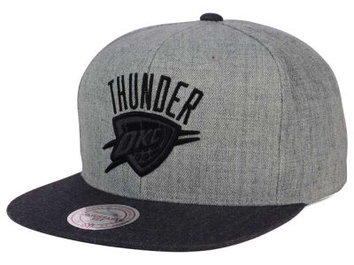 Oklahoma City Thunder Mitchell and Ness NBA Double Heather Snapback Cap