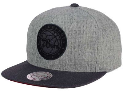 Philadelphia 76ers Mitchell and Ness NBA Double Heather Snapback Cap
