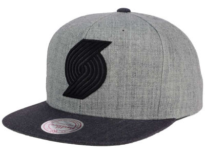 Portland Trail Blazers Mitchell and Ness NBA Double Heather Snapback Cap