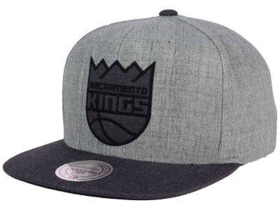 Sacramento Kings Mitchell and Ness NBA Double Heather Snapback Cap