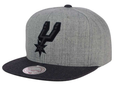 San Antonio Spurs Mitchell and Ness NBA Double Heather Snapback Cap