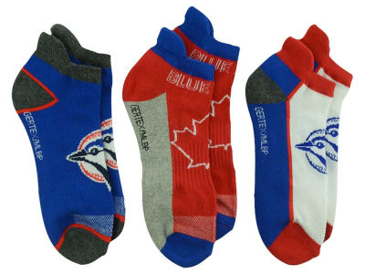 Toronto Blue Jays 3-pack MLB Women's No Show Socks