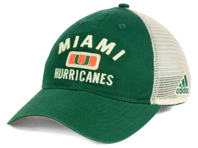 Miami Hurricanes adidas 2016 NCAA Eyes Up Meshback Adjustable Cap