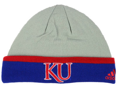 Kansas Jayhawks adidas NCAA Gray Dome Cuff Knit