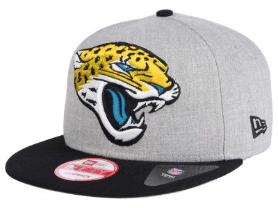 Jacksonville Jaguars New Era NFL Heather Grand 9FIFTY Snapback Cap