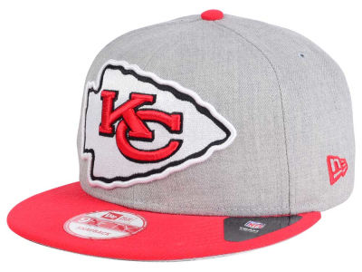 Kansas City Chiefs New Era NFL Heather Grand 9FIFTY Snapback Cap