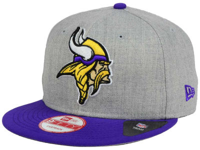 Minnesota Vikings New Era NFL Heather Grand 9FIFTY Snapback Cap