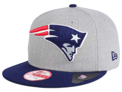 New England Patriots New Era NFL Heather Grand 9FIFTY Snapback Cap