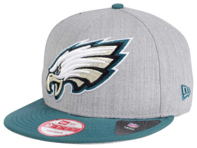 Philadelphia Eagles New Era NFL Heather Grand 9FIFTY Snapback Cap