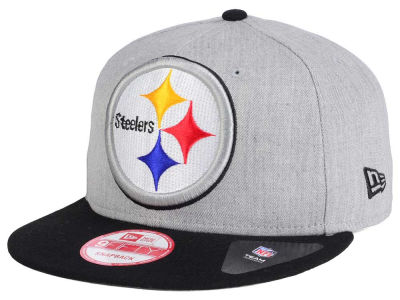 Pittsburgh Steelers New Era NFL Heather Grand 9FIFTY Snapback Cap