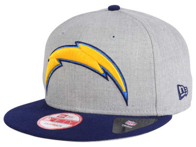 San Diego Chargers New Era NFL Heather Grand 9FIFTY Snapback Cap