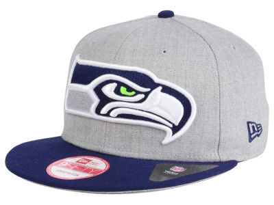 Seattle Seahawks New Era NFL Heather Grand 9FIFTY Snapback Cap