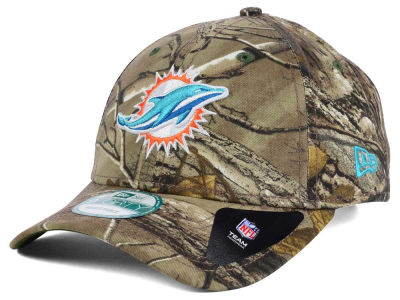 Miami Dolphins New Era NFL The League Realtree 9FORTY Cap