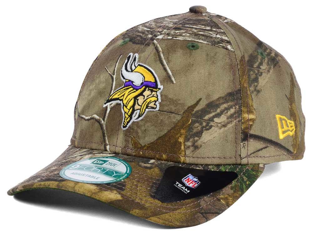 72fb8e27a63 Minnesota Vikings New Era NFL The League Realtree 9FORTY Cap