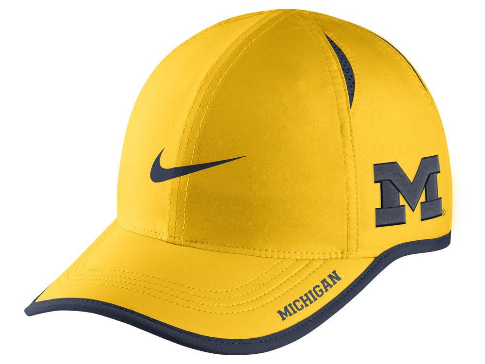 ae1ca6701dd Michigan Wolverines Nike NCAA Featherlight Cap