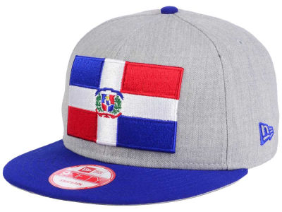 Dominican Republic New Era Heather Grand 9FIFTY Snapback Cap