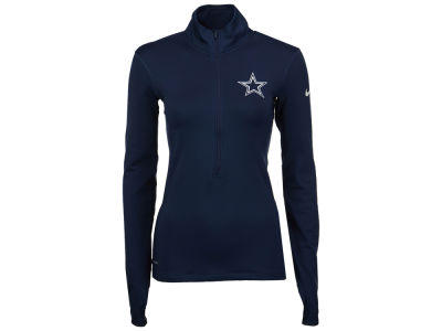 Dallas Cowboys NFL Women's Pro Hyperwarm Half Zip Pullover Shirt
