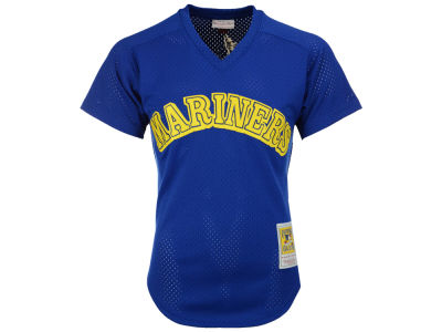 Seattle Mariners Ken Griffey Jr. Mitchell & Ness MLB Men's Authentic Mesh Batting Practice V-Neck Jersey