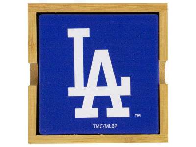 Los Angeles Dodgers 4-pack Square Coaster w/ Caddy