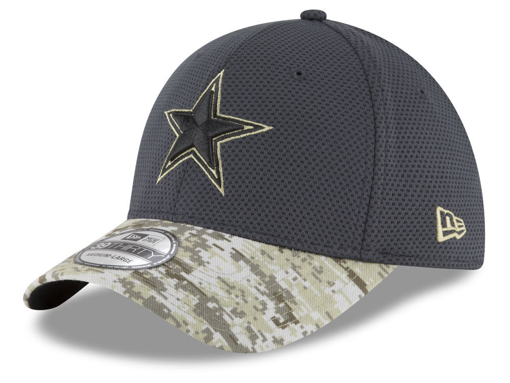 9cd16b6632b ... inexpensive dallas cowboys new era nfl salute to service official 39thirty  cap c55b8 af889