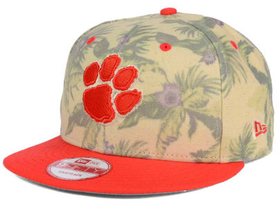 Clemson Tigers New Era NCAA Faded Trop 9FIFTY Snapback Cap