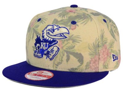 Kansas Jayhawks New Era NCAA Faded Trop 9FIFTY Snapback Cap