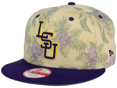LSU Tigers New Era NCAA Faded Trop 9FIFTY Snapback Cap