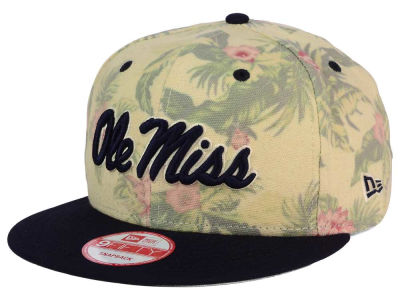 Ole Miss Rebels New Era NCAA Faded Trop 9FIFTY Snapback Cap