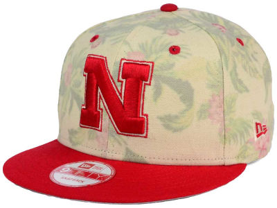 Nebraska Cornhuskers New Era NCAA Faded Trop 9FIFTY Snapback Cap