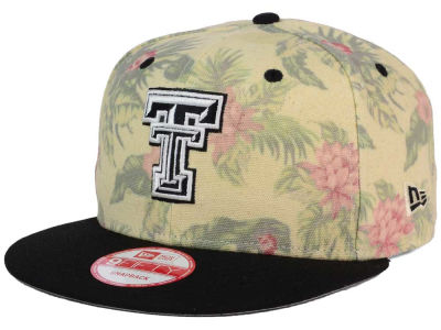 Texas Tech Red Raiders New Era NCAA Faded Trop 9FIFTY Snapback Cap