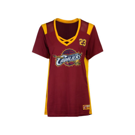 Cleveland Cavaliers LeBron James Majestic NBA Women's Draft Him T-Shirt