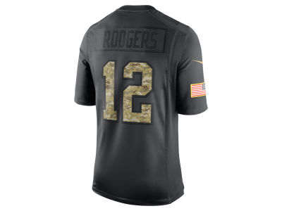 Green Bay Packers Aaron Rodgers Nike NFL Men's Salute to Service Jersey