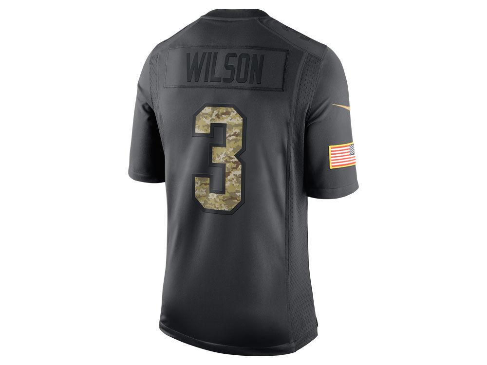 70ab74d9d Seattle Seahawks Russell Wilson Nike NFL Men's 2016 Salute to Service Jersey    lids.com