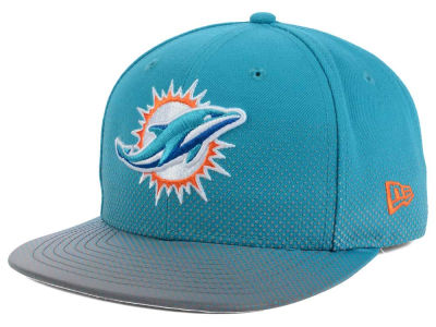 Miami Dolphins New Era NFL Flow Flect 9FIFTY Snapback Cap