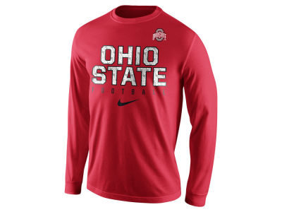 Nike NCAA Men's Cotton Practice Long Sleeve T-Shirt