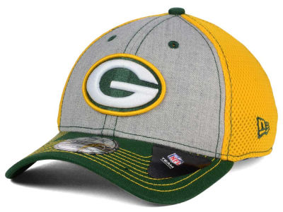 Green Bay Packers New Era NFL Heathered Neo 39THIRTY Cap