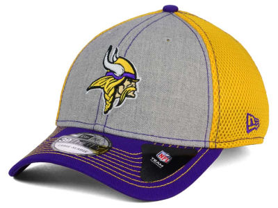 Minnesota Vikings New Era NFL Heathered Neo 39THIRTY Cap