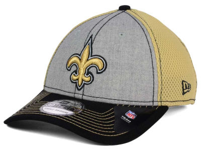 New Orleans Saints New Era NFL Heathered Neo 39THIRTY Cap