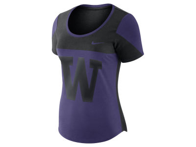 Washington Huskies Nike NCAA Women's Enzyme Washed Scoop T-Shirt