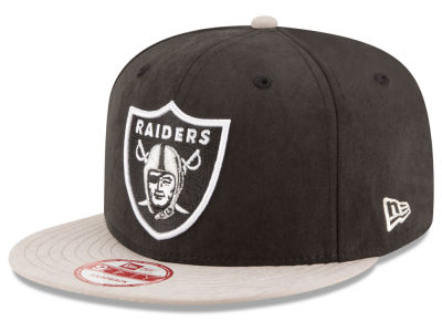 Oakland Raiders New Era NFL Summer Suede 9FIFTY Snapback Cap