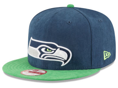 Seattle Seahawks New Era NFL Summer Suede 9FIFTY Snapback Cap