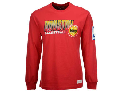 Houston Rockets Mitchell & Ness NBA Men's Keeping Score Long Sleeve T-Shirt