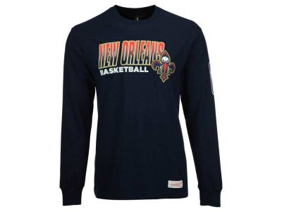 New Orleans Pelicans Mitchell and Ness NBA Men's Keeping Score Long Sleeve T-Shirt