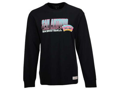 San Antonio Spurs Mitchell and Ness NBA Men's Keeping Score Long Sleeve T-Shirt