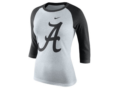 Alabama Crimson Tide Nike NCAA Women's Triblend Oatmeal 3/4 Sleeve Raglan T-Shirt